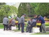 Pensionari în parc