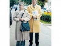 """Maria Cornelia și Stan Velea, la Suceava, de """"Zilele Culturii Polone"""", în septembrie 2004"""