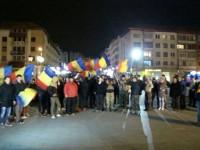 Sucevenii au ieşit în stradă pentru a sărbători victoria lui Iohannis