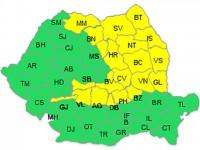 Codul galben de vreme rea determină autoritățile sucevene să adopte măsuri urgente