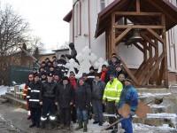 S.V.S.U. Bosanci a dăruit colegilor militari un monument de gheaţă
