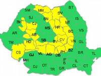 Cod galben de vânt şi ninsori viscolite în zona de munte a judeţului Suceava