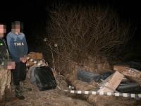 Aproape 11.000 de pachete de ţigări capturate luni, de către poliţiştii de frontieră de la contrabandişti