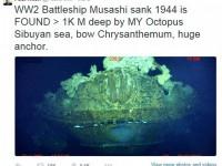 """Epava cuirasatului japonez """"Musashi"""", descoperită de Paul Allen, cofondatorul Microsoft"""