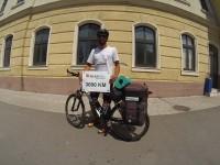 """""""Turul României pe Graniţă cu Bicicleta"""", încheiat cu succes de tânărul Marius Bucur"""