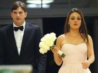 Nunta lui Ashton Kutcher cu Mila Kunis a fost minunată
