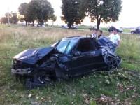 O maşină răsturnată şi patru răniţi