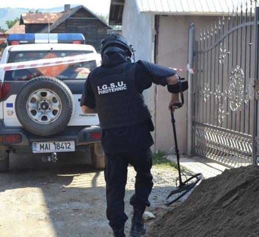 Aproape 200 de elemente de muniţie găsite după lucrări de excavare