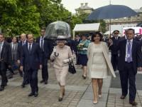 Regina Elisabeta a II-a a Marii Britanii, la ceremonia de marcare a 70 de ani de la victoria Aliaţilor contra Japoniei
