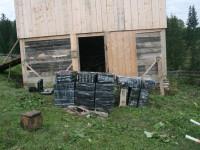 9700 pachete de ţigări ucrainene descoperite într-o magazie din Ulma