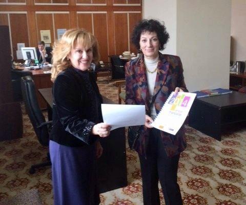 Deputatul SandaMaria Ardeleanu şi Chantal Moreno, director al Biroului regional al OIF pentru Europa Centrală şi de Est