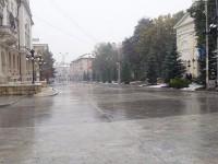 Lucrările de amenajare a zonei pietonale din faţa Palatului Administrativ, la final