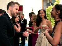 Fiicele lui Obama, captivate de Ryan Rynolds la recepţia oferită de tatăl lor în onoarea premierului canadian