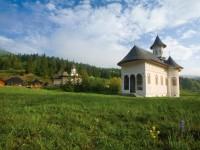 Mănăstirea Sihăstria Putnei. Imagine de ansamblu a incintei