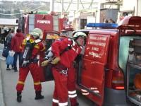 Incendiu cu situaţii complicate în Bazarul Sucevei