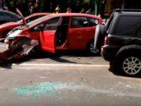 Cinci răniţi după un accident cu patru maşini produs în intersecţia de la Biblioteca judeţeană Suceava