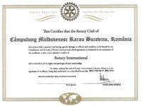 Ceremonia de chartare a Clubului Rotary