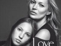 Kate Moss şi fiica ei, Lila Grace, împreună pe coperta revistei Vogue Italia