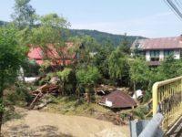 43 de localităţi din judeţ afectate de ploile torenţiale