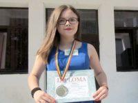 """Ana-Maria Cotun, de la CN """"Nicu Gane"""" Fălticeni, a obţinut medalia de bronz"""