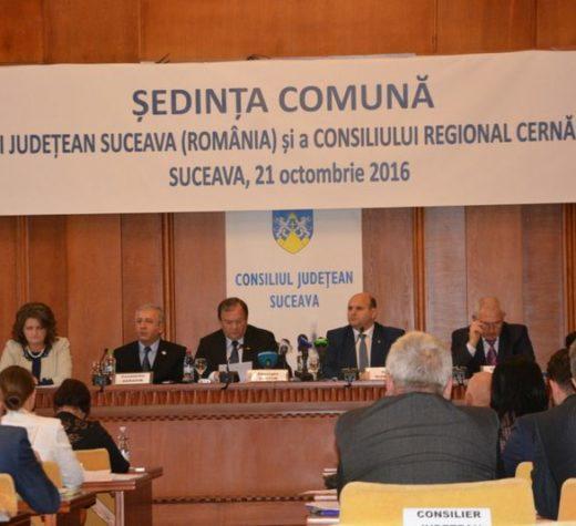 Dezvoltarea infrastructurii de transport, cooperarea în domeniile medical şi al educaţiei, al situaţiilor de urgenţă şi al păstrării obiceiurilor, susţinute de judeţul Suceava şi regiunea Cernăuţi
