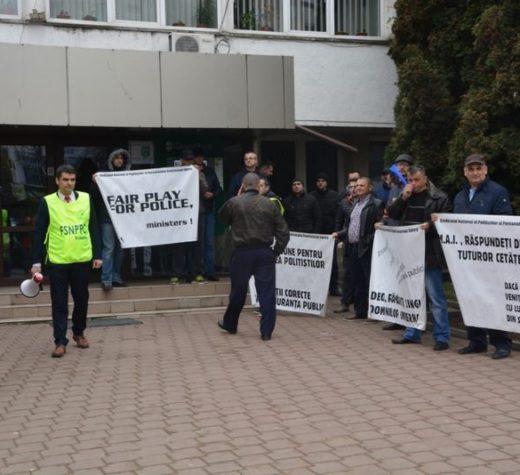 Protest şi marş al poliţiştilor suceveni
