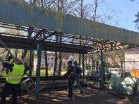 Staţia de autobuz părăsită de lângă Centrul de Transfuzie Sanguină a fost demolată