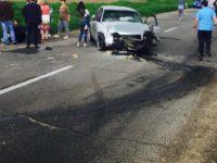 Accident rutier, trei maşini implicate, zece răniţi