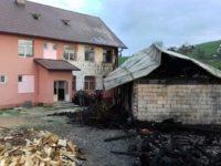 Flăcări izbucnite la şcoala din Lupcina