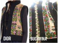Bundiţă tradiţională bucovineană copiată de celebra casă de modă Christian Dior
