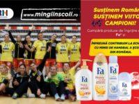 """""""Mingi în şcoli"""", campania pentru viitorii campioni ai handbalului românesc, continuă şi anul acesta"""