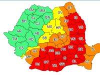 Cod portocaliu de caniculă pentru estul judeţului Suceava ce va fi urmat de furtuni puternice