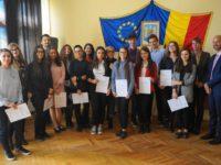 """70 de elevi ai CN """"Petru Rareş"""" Suceava au obţinut certificatul de limbă germană DSD 1"""