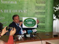 Gheorghe Flutur a prezentat ieri logoul Centenarului Unirii Bucovinei cu Ţara