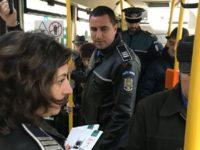 Amplă acţiune a poliţiştilor în mijloacele de transport în comun din municipiul Suceava