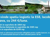 MRL vinde spatiu logistic la E58, Iacobeni-Suceava, cu 244 Euro/luna