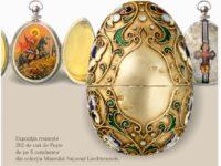 Opt ouă realizate de Karl Faberger pentru familia ţarilor Rusiei, expuse pentru prima oară în România