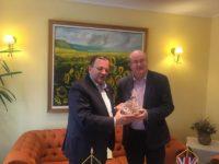 Gheorghe Flutur a discutat cu ambasadorul Marii Britanii despre posibile investiţii britanice în Parcul industrial Bucovina 1