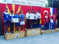 Medalie de argint pentru echipa României, cu dornenii Bularda, Tocilă şi Rădoi în prim-plan