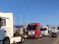 Şoferi din Suceava au participat la marşul motorizat spre Bucureşti pentru autostrăzile A 7 şi A 8