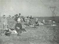 Anul 1985, la sortat cartofi la CAP, pe tarlaua Buneşti.
