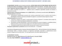 """Lansare proiect """"Dezvoltarea societatii prin crearea unei noi unitati de prestare servicii de inginerie si consultanta tehnica legate de acestea"""", cod SMIS 115041"""