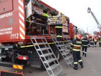 Exerciţiu desfăşurat de ISU Suceava în caz de cutremur puternic urmat de un incendiu