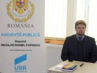 Deputatul USR Daniel Popescu sprijină înfiinţarea unei filiale USR în Câmpulung Moldovenesc