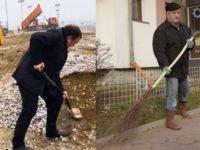 Cu domnul Flutur facem o echipă grozavă. El cu lopata, eu cu măturoiul. Facem curăţenie !