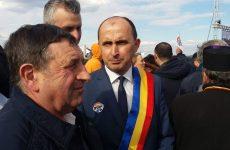 Primarul ALDE al comunei Bosanci, Neculai Miron, la inaugurarea metrului de autostradă, critici la adresa Guvernului şi PSD