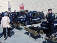 Expoziţie de tehnică militară şi exerciţii demonstrative cu câini de serviciu ai Jandarmeriei Suceava