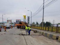 Podul de la bazar s-a redeschis integral circulaţiei
