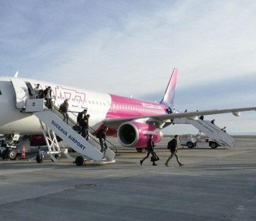 Peste 690.000 de pasageri au zburat cu Wizz Air de la şi spre Suceava din iulie 2016