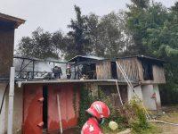 Incendiul de la garajele din cartierul George Enescu a izbucnit de la nişte lucrări de hidroizolaţie